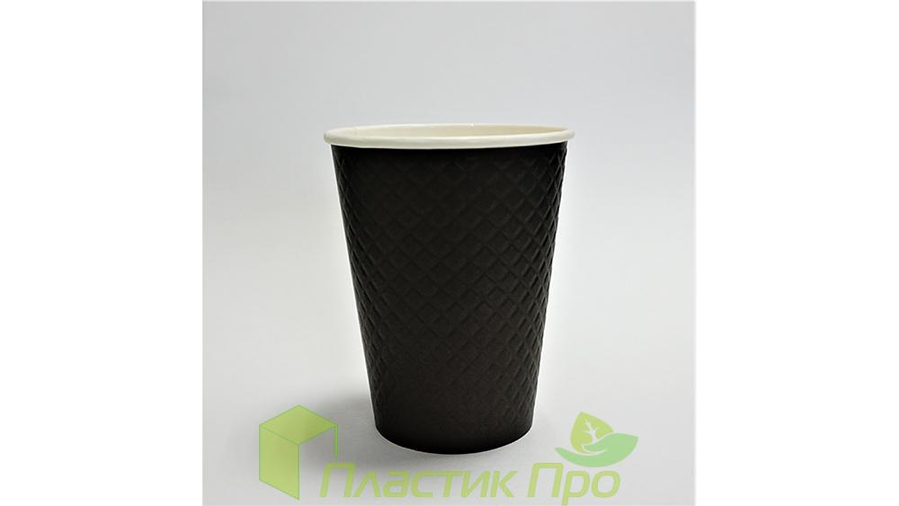 Бумажный стакан waffle black